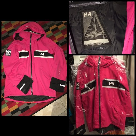 Pink Helly Hansen Perfect condition, just dry cleaned, and ready to wear. Helly Hansen Jackets & Coats