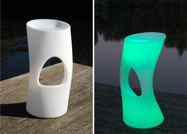 LED-Barhocker mit Farbwechsel