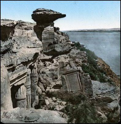 Silsila, Early photos of Temple of Merenptah circa 1890 #egypt