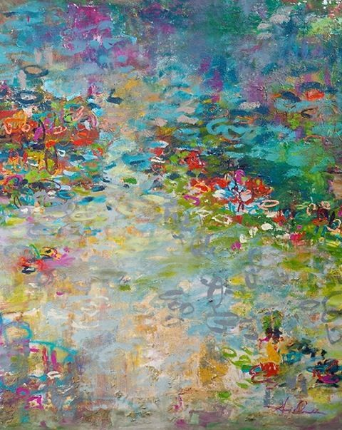 Abstract Art, Oil painting, reflections