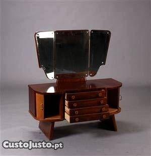 """Toucador """"Art Deco"""" em mogno e faia - à venda - Móveis & Decoração, Porto - CustoJusto.pt"""