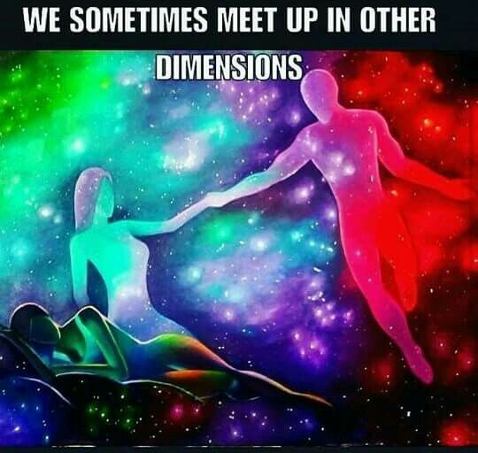 This happens... You might as well meet beings from other dimensions.