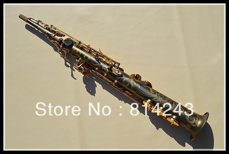 Selmer Brand BB Soprano Saxophone Henry C Black Grinding Placer Gold Key Saxophone Soprano Reference 54 Sax Instrument #Affiliate