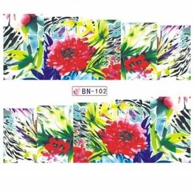Beautiful tropical nail art water decal wraps perfect for any summer manicure these beautiful nail art transfer wraps feature a tropical flower design.   #nails #nailart #nailstagram #nailswag #nailedit #nails2inspire #nailsart #nailwraps #naildesign #nailideas #nailartdesigns #flowernails #beauty