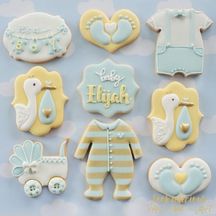 Cookielicious nz home baby shower cookies baby