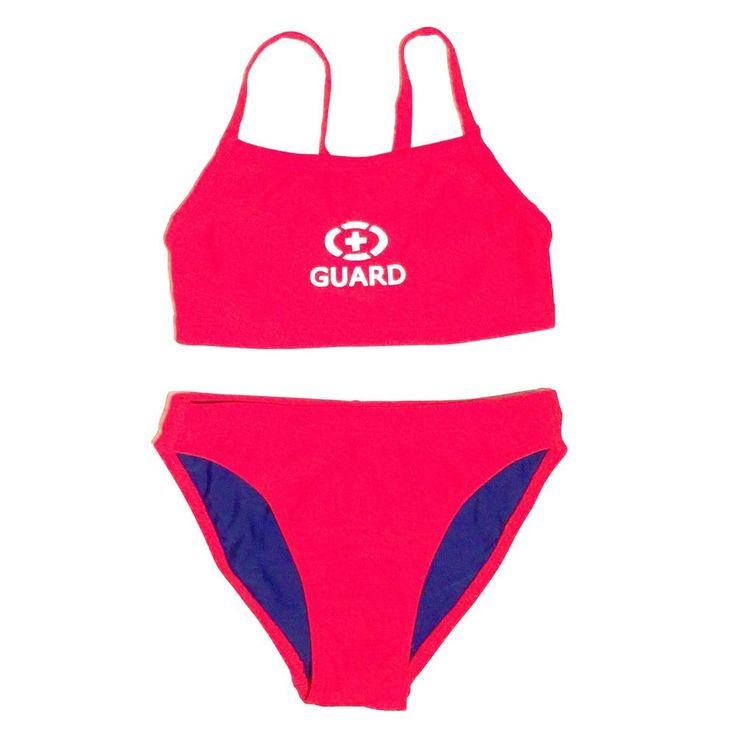 Women's Lifeguard Swimsuit Red Size 4 NEW 2 Piece #Adoretex #TwoPiece