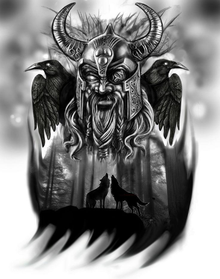 https://flic.kr/p/ehrts1 | Odin tattoo idea | digital painting.