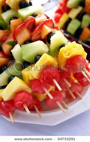 (bridal shower food) fruit kabobs
