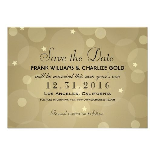 New Year's Eve Wedding save the date wording