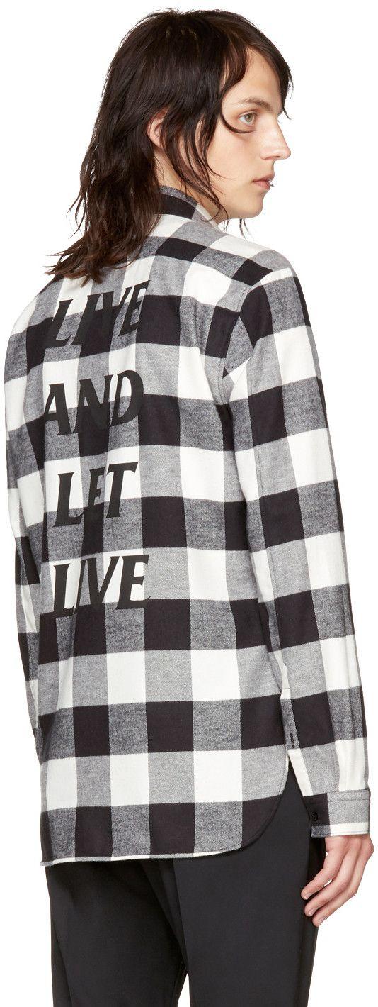 Neil Barrett - Black & Off-White 'Live and Let Live' McGregor Shirt