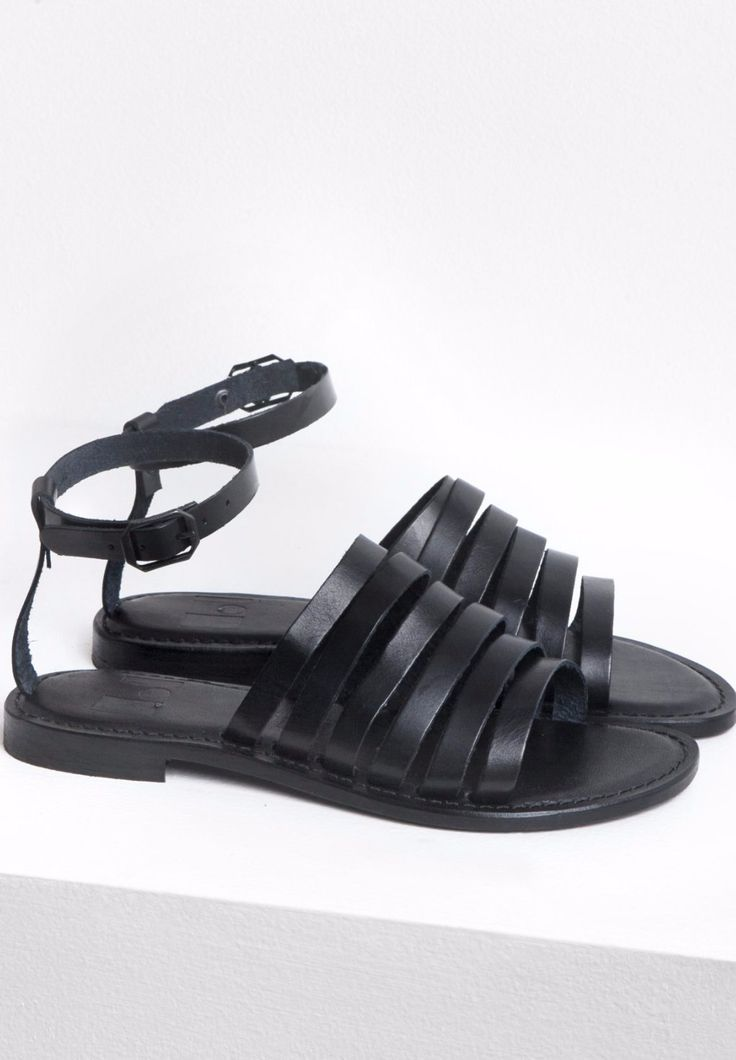 The Finery - Dept. Of Finery - Jude Sandals In Black