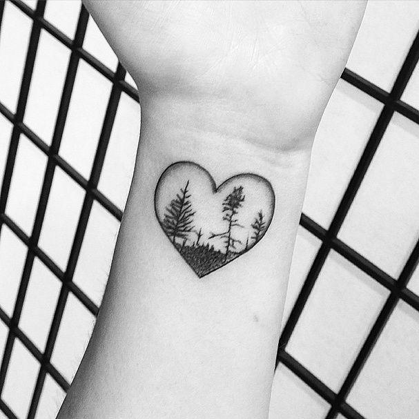 Le bout de nature dans un coeur