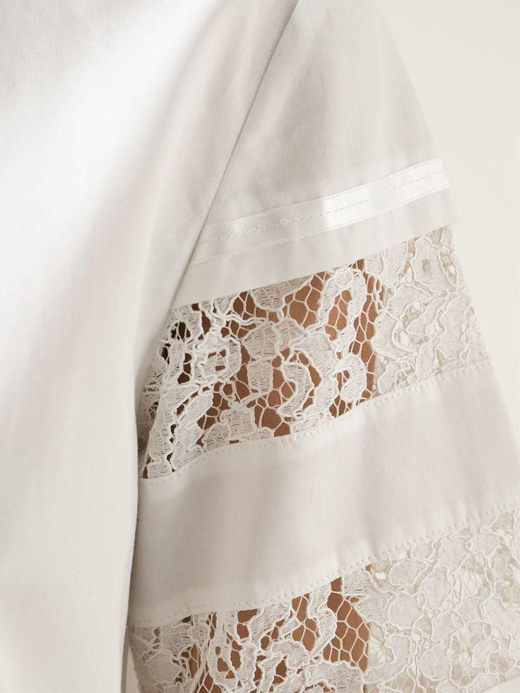Philosophy Lace Detail Shirt - Espace Cannelle - Farfetch.com