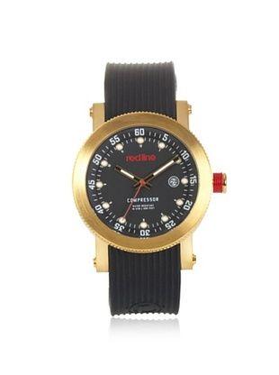 90% OFF red line Men's RL-18000-YG-01 Compressor Black Dial Black Silicone Watch