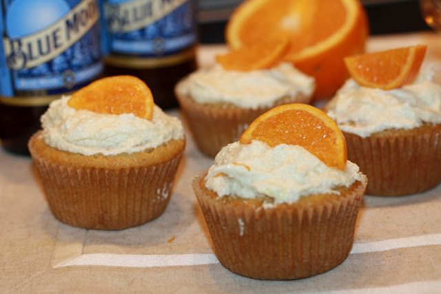 This idea came through Pinterest: Blue Moon cupcakes with a light, airy frosting. Since the original recipe, from Miss Make , wasn't vega...