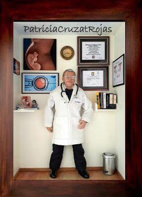 Patricia Cruzat Artesania y Color: Para un Ginecólogo Obstetra, su cuadro personalizado.