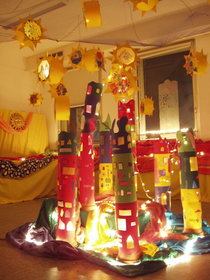 On St. Martin's Day (11th November) children go through the streets with paper lanterns and candles, and sing songs about St. Martin. This photo was taken today in a school, where lanterns, that children have made for this day, were exhibited. ≈≈