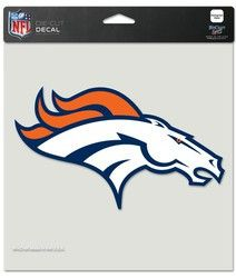 "Denver Broncos Die-Cut Decal - 8""x8"" Color"