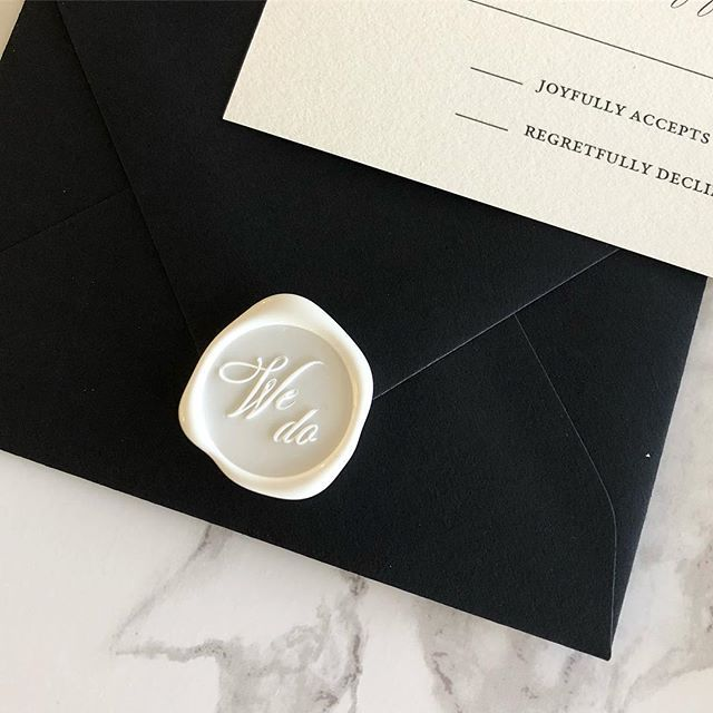 We Do Love These Black Envelopes The