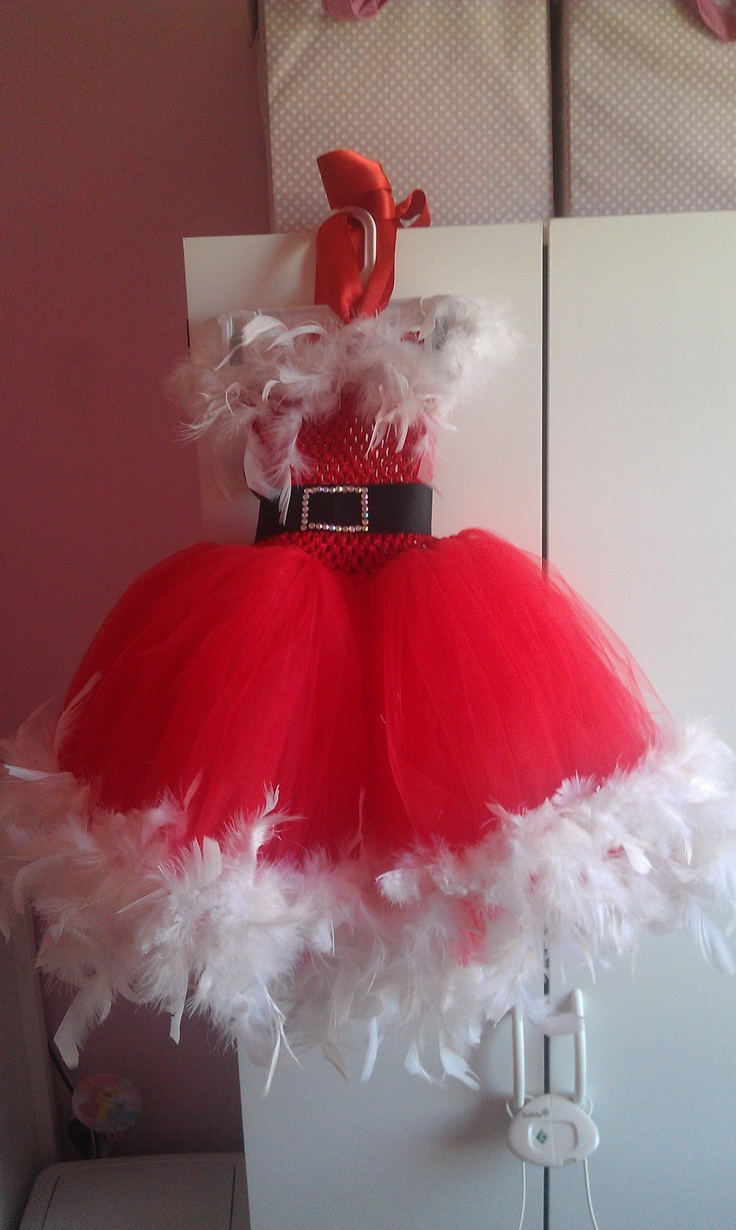 My daughter's Christmas tutu dress 2012
