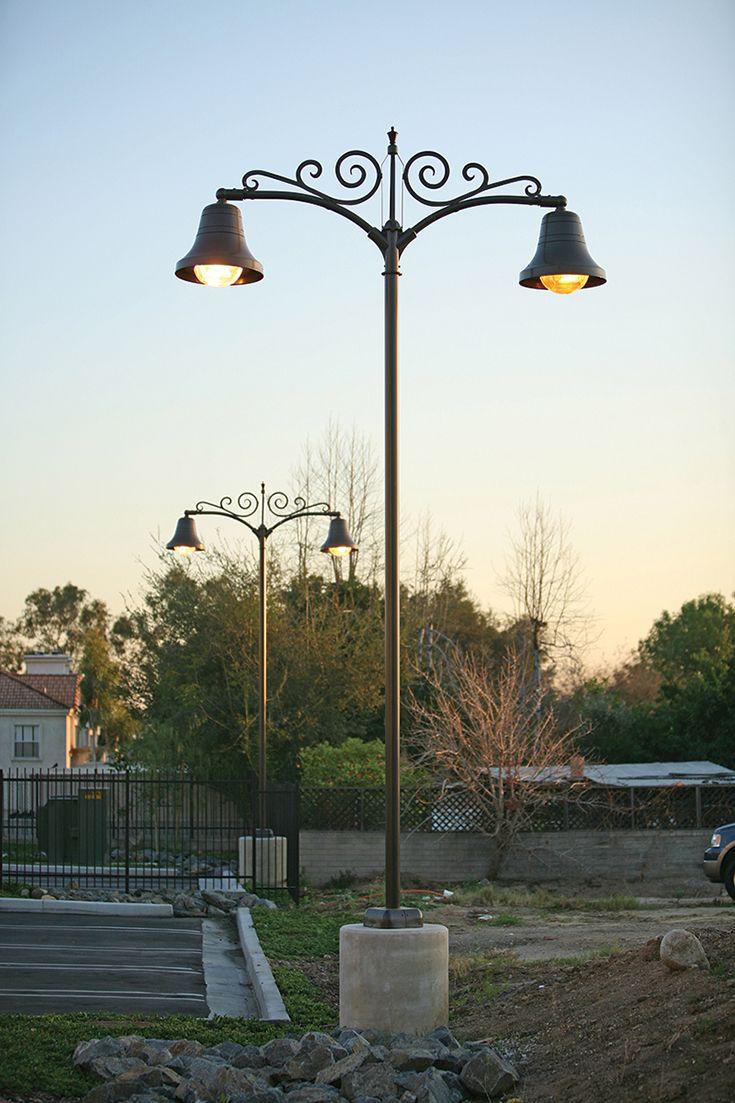 Decorative site lighting, architectural,luminaire, street poles landscape, night, LED ANP