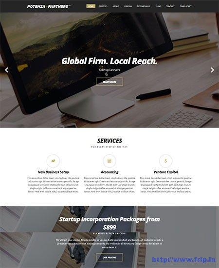 Potenza Single Page WordPress Theme By Cssigniter Themes  http://www.frip.in/potenza-single-page-wordpress-theme/