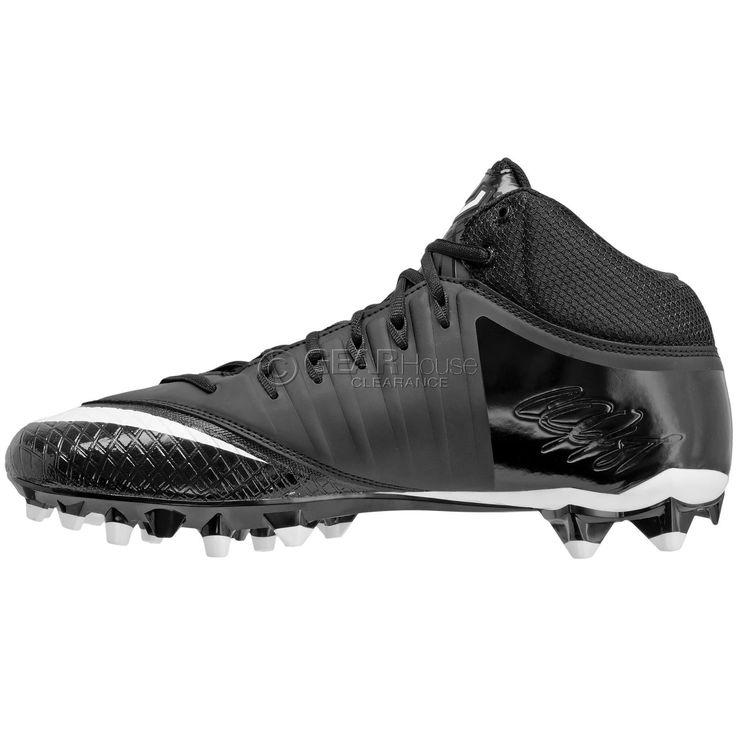 New Nike CJ3 Pro TD Mid 3/4 Mens Football Cleats Calvin Johnson : Black