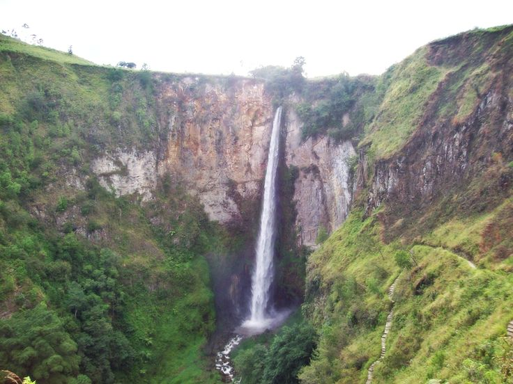 Sipiso-piso waterfall from Tongging, Medan, Indonesia