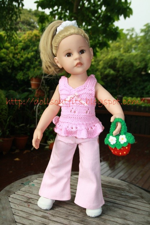 Flared trousers for 19.5-inch (50 cm) Gotz doll - Free patterns for dolls