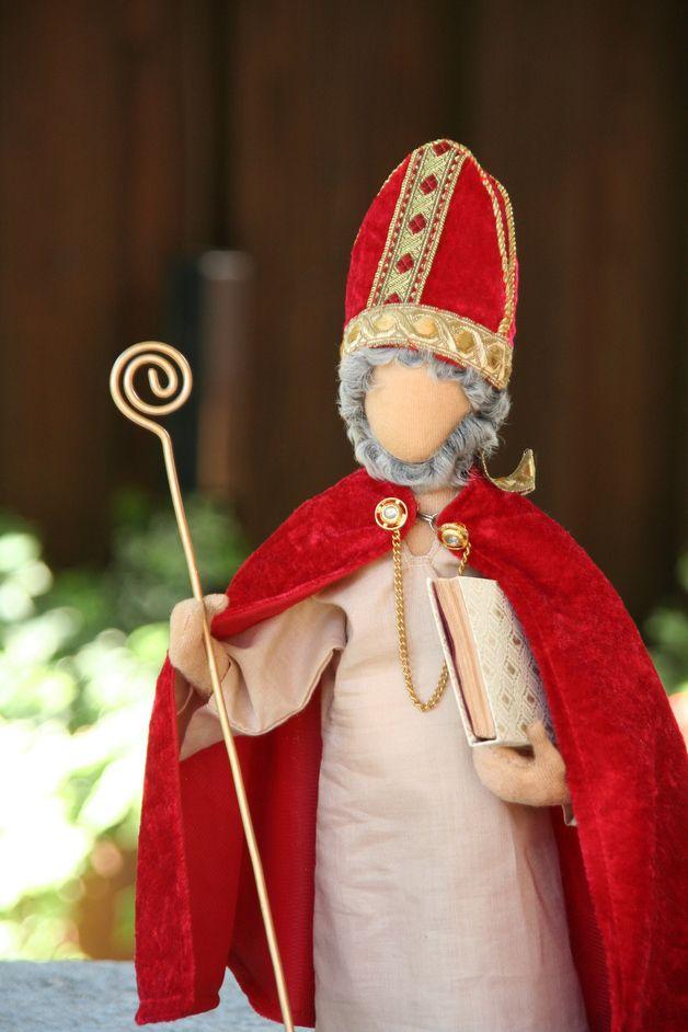 Weiteres - Biblische Erzählfiguren - Bischof Nikolaus - FM 9 - ein Designerstück von GR-ossMama bei DaWanda