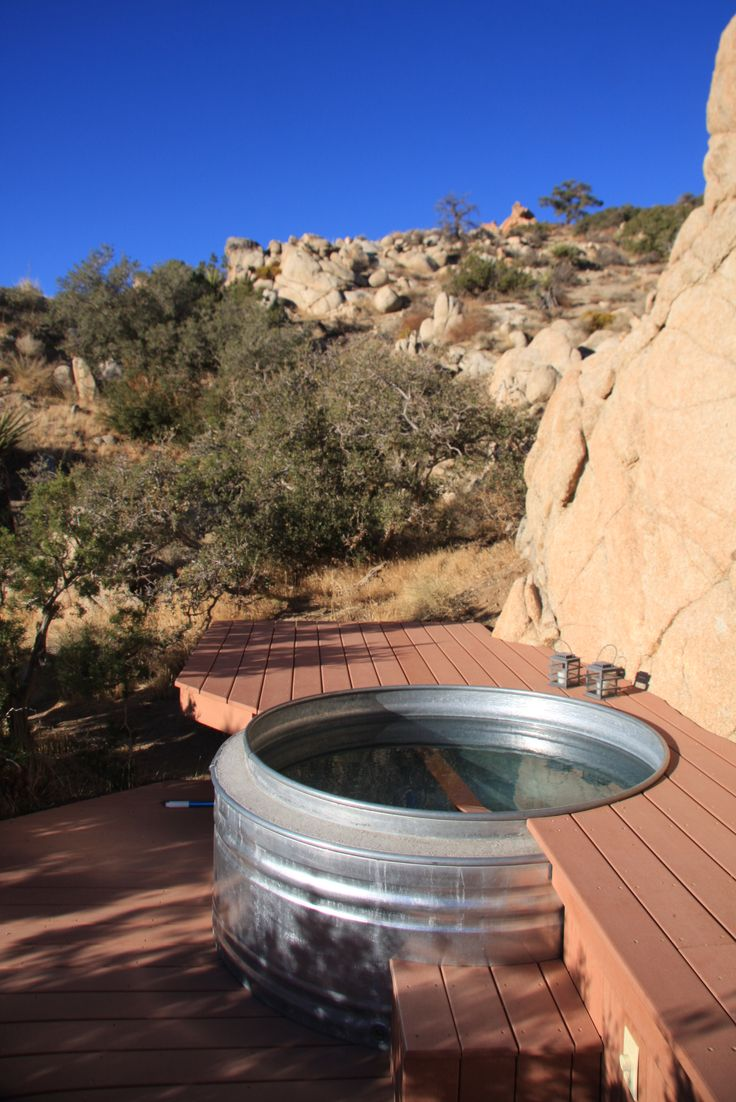 A Real Hot Tub From A Cattle Watering Trough Outdoor