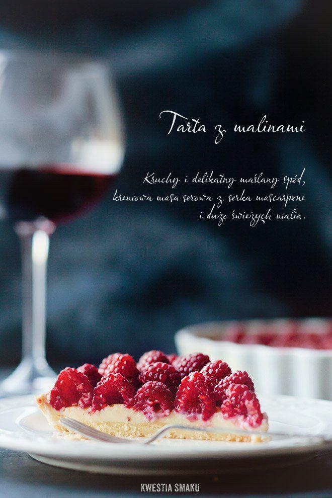 Tarta z malinami i kremem mascarpone | Kwestia Smaku
