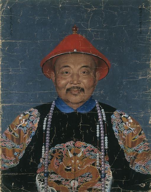 Jean-Denis Attiret  \\ Mongolian Imperial Prince France/Mongolia \\ c. 1755 \\ Oil on paper 70 x 55 cm.