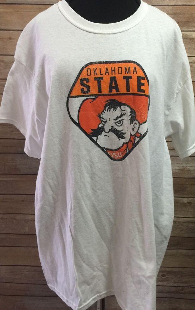 Ok Oklahoma State Cowboys White  T Shirt Camp David Football Basketball Large #CampDavid #OklahomaStateCowboys