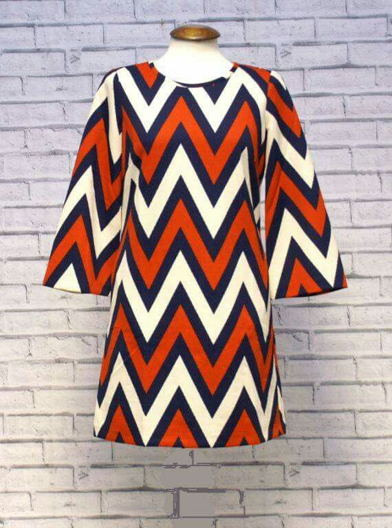 A little something for the ladies... Cute little Zig Zag Dress available now at www.modclothin.co.uk