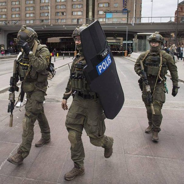 Swedish Police National Task Force during the terrorist attack in Stockholm #swedish #sweden