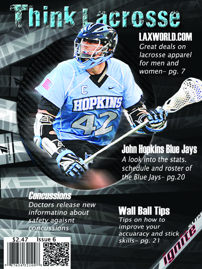 My finished Lacrosse magazine cover