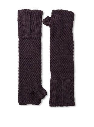Carolina Amato Women's Fingerless Arm Warmers (Plum)