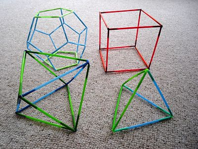 Making 3d shapes with bendy straws geometry ideas How to make 3d shapes