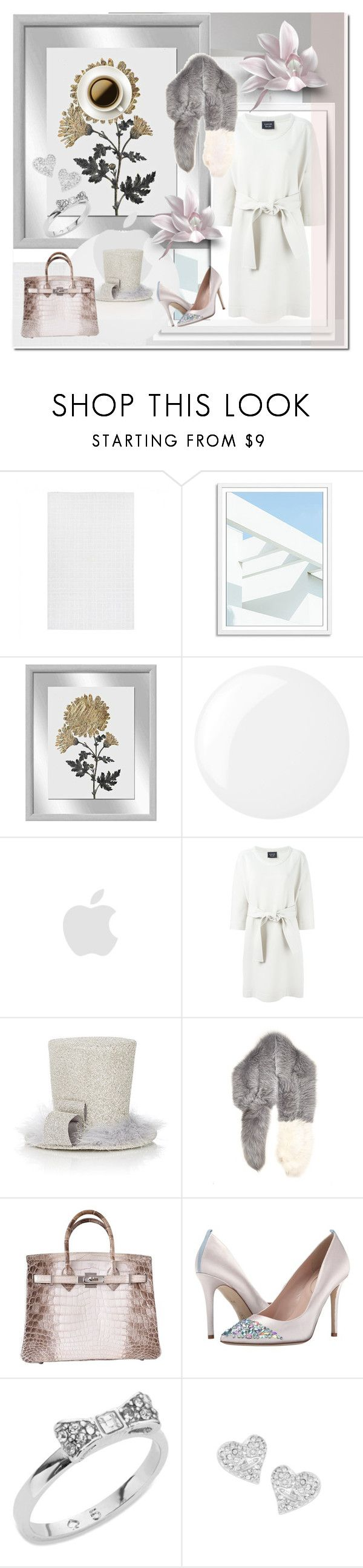"""Lanvin Belted Dress"" by ilona-828 ❤ liked on Polyvore featuring Universal Lighting and Decor, Essie, Lanvin, Sherri's Designs, Marni, Hermès, SJP, Kate Spade, Vivienne Westwood and dress"