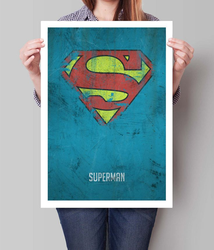 Superman Poster Superheroes Superhero Wall by TheWatermelonFactory