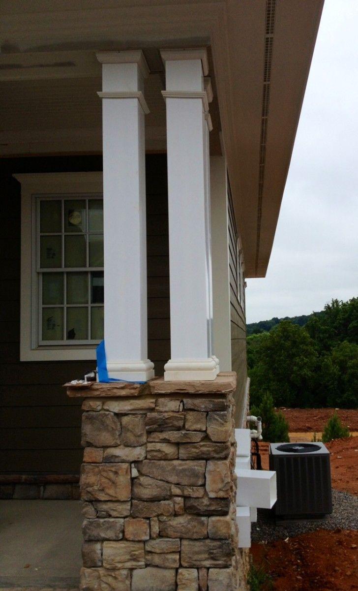 Exterior front porch pillars ideas pillars for front porch stone