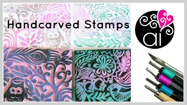 Handcarved Stamps | Tutorial DIY | Come creare timbri intagliati a mano ...