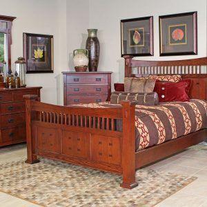 San Mateo Oak Bedroom Set