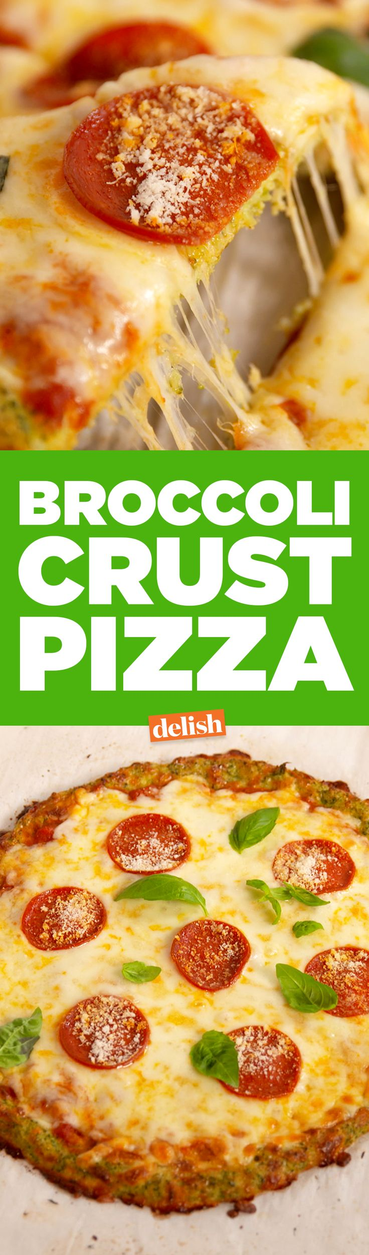 Good news: this Broccoli Crust Pizza is fair game on your diet. Get the recipe from Delish.com.
