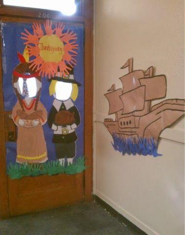 59 best door decorations images on pinterest for Autumn classroom decoration