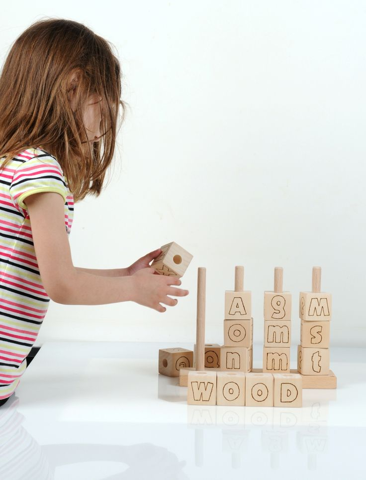 16 unfinished basswood blocks featuring both uppercase and lowercase letters including some extra lowercase letters. Easy to grab, light-weight and light-coloured blocks. Durable and easy to assemble just by stacking them on the base. The blocks are sanded smooth and the letters are scorched.