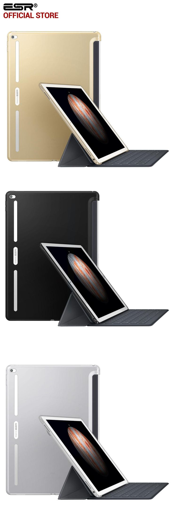 [Visit to Buy] Case for iPad Pro 9.7 inch, ESR Slim Fit Shell Case [Soft TPU Bumper Corner] Back Cover for iPad Pro 9.7 Inches 2016 Release #Advertisement