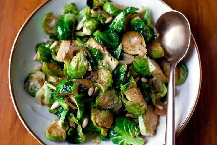 Stir-Fried Brussels Sprouts With Shallots and Sherry by Grace Young