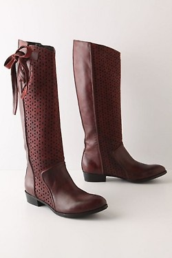 cute boots: Bows Ties, Claret Bows, Leather Boots, Bows Boots, Riding Boots, Cowboys Boots, Boots Anthropology, Anthropology Boots, Brown Boots